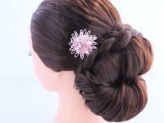 水引☆花かんざし☆ホワイトピンクの画像