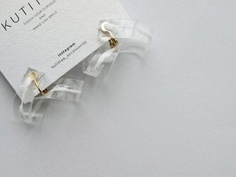 送料無料 cycle earring/whiteの画像