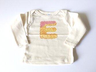 ビスケットアルファベット ベビーTシャツ (イチゴ) ● organic cotton 100%【受注生産】の画像