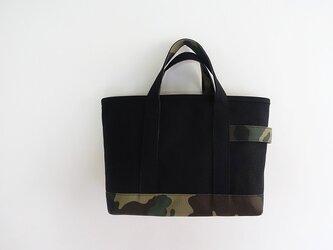 6号帆布×カモフラ トートバッグ<ブラック系>の画像