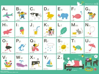 ポスター 「アルファベット ABC表」の画像