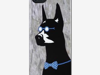 オリジナルスマホケース【紳士なドーベルマン】【受注製作:iPhone/Xperia/Galaxy】の画像