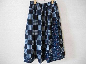 古布木綿のリメイクスカートの画像