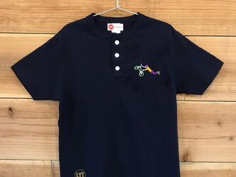 BMX 刺繍 ヘンリーネックTシャツの画像