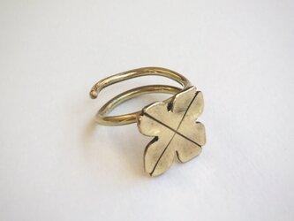 四つ葉のクローバーのリング(真鍮)の画像
