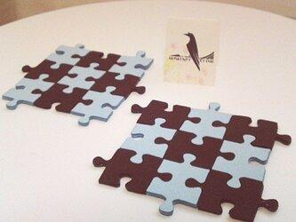 ジグソーパズルのコースター(チョコミント)の画像