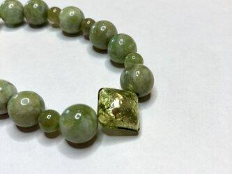 グラスグリーンのダイヤモンドブレスレットの画像