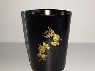 金魚  漆塗りマグカップの画像