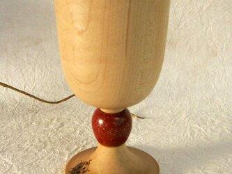 木製ワイングラス Viteてんとう虫の赤の画像