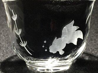 金魚の冷茶グラス3の画像