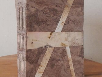 アマテ樹皮紙のコラージュノートの画像