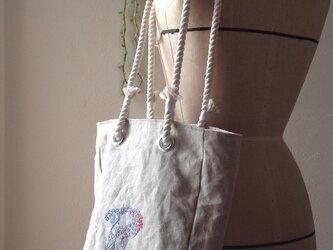 イニシャル刺繍バッグ  [受注生産]の画像