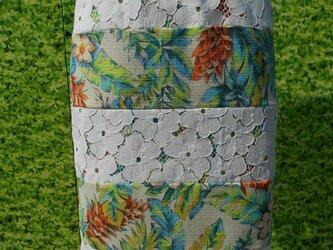 花柄レース地ミックスタイトスカートの画像
