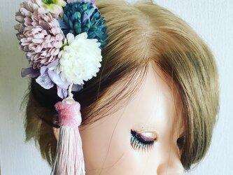 マムとタッセルの髪飾り★造花★ウェディング・和装の画像