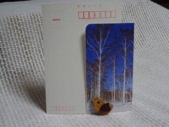 小鳥のカードスタンドの画像