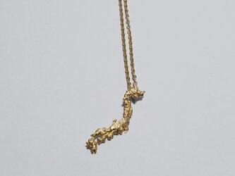 The world map accessory  Japan necklace ゴールドカラーの画像