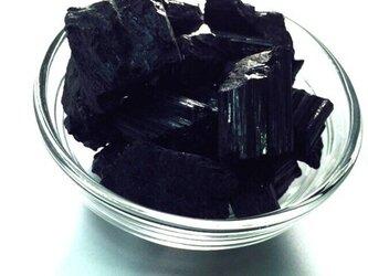 【穴無】ブラジル産 ブラックトルマリン 原石 50gの画像