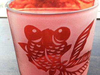 金魚のグラスの画像