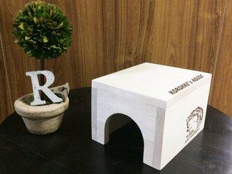 ハリネズミさんのおうち♪木製ハウス/名入れ可能♪[ハムスター・テグー]の画像