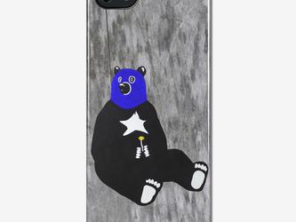 オリジナルスマホケース【一輪の花を持つ熊】【受注製作:iPhone/Xperia/Galaxy】の画像