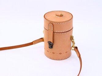 【切線派】★駒縫い★ 本革手縫いバケットショルダーバッグトートバッグ手持ち 肩掛け 2WAY 鞄 丸の底部の画像