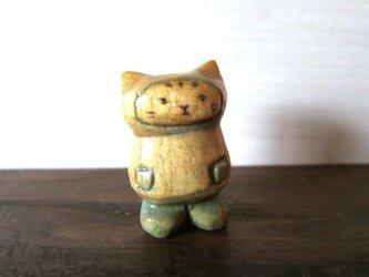 木彫り長靴ねこ N-1の画像