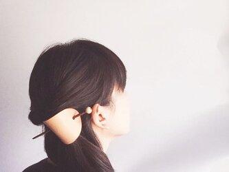 栃木レザー ヌメ革の簪 楕円の画像