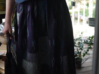 リメイク正絹100パッチワークスカートの画像