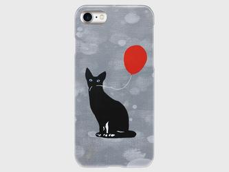 オリジナルスマホケース【風船をくわえた猫】【受注製作:iPhone/Xperia/Galaxy】の画像