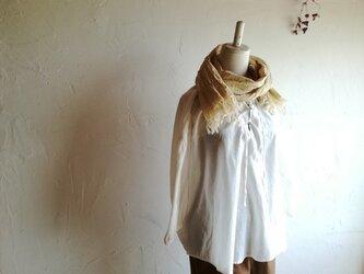 草木染め播州織物 コットンストール ②送料無料の画像