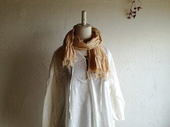草木染め播州織物 コットンストール ⑤ 送料無料の画像
