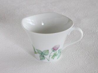 アカツメ草のマグカップの画像