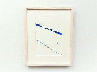原画「ある日のこと」水彩イラスト ※木製額縁入りの画像