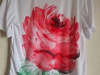 薔薇のTシャツ (手描き)の画像