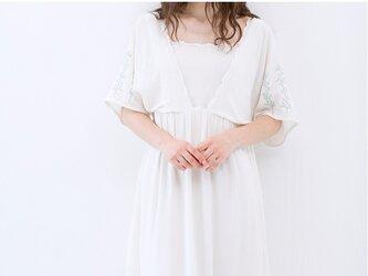 【3サイズ展開】刺繍入りゆったり半袖ワンピース♪の画像
