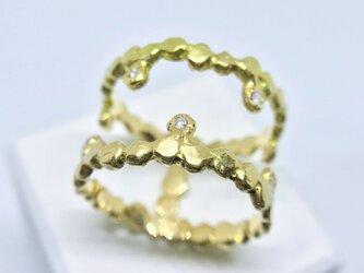 ◆K18◆ つぶつぶのリング#03の画像