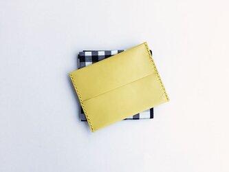 トイズレザーのシンプル革ティッシュカバー レモンイエローの画像