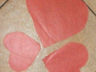 ガラスデコレーション 和紙ペタ ハートの画像