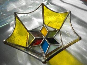 ステンドグラス 小物入れ 黄色の画像