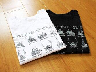 戦国武将兜Tシャツ レディースの画像