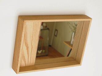 木製 箱鏡 栗材4の画像