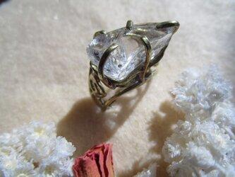 【再販】真鍮 水晶原石大リングの画像