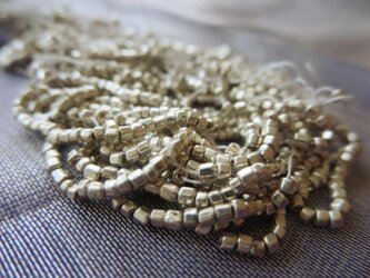 *♥*Czech Vintage Faceted Seed Beads Metallic Silver*♥*の画像