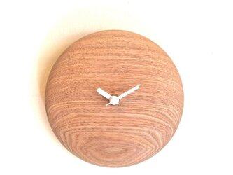 まめ時計  ~タモの丸くて小さな掛け時計~の画像
