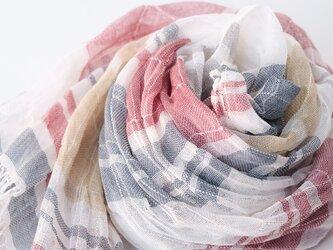 手織りリネンストール【涼風*05】の画像
