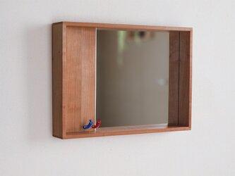 はこ鏡 桜材②の画像