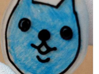 猫ピアス(青)の画像