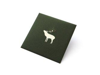 【切り絵のぽち袋】 鹿(大サイズ) 2枚セットの画像
