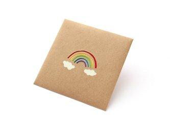 【切り絵のぽち袋】 虹(大サイズ) 2枚セットの画像