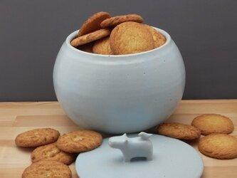 アイスブルー・クッキージャー・カバの画像